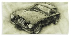 Aston Martin Db2 Gt Zagato - 1950 - Automotive Art - Car Posters Beach Towel