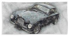 Aston Martin Db2 Gt Zagato 2 - 1950 - Automotive Art - Car Posters Beach Towel