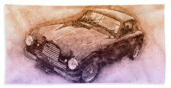 Aston Martin Db2 Gt Zagato 3 - 1950 - Automotive Art - Car Posters Beach Towel