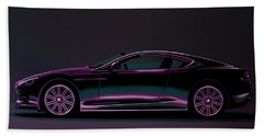 Aston Martin Dbs V12 2007 Painting Beach Towel