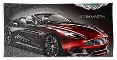 Aston Martin Vanquish Volante  Beach Towel