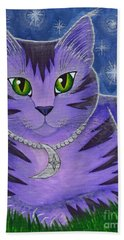 Astra Celestial Moon Cat Beach Towel