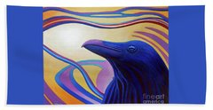 Astral Raven Beach Towel