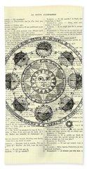 Astrology Chart, Solar System Beach Towel