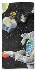 Astronaut Disc Golf Beach Towel