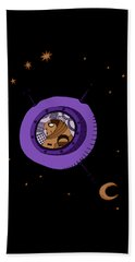 Astronaut In Deep Space Beach Towel