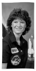 Astronaut Sally Ride  Beach Towel