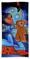 Astronaut Training Bear Mp Beach Towel