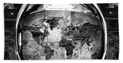 Astronaut World Map 1 Beach Towel by Bekim Art