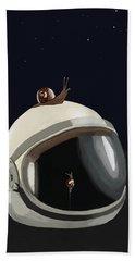 Astronaut's Helmet Beach Towel