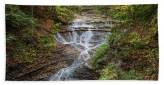 Beach Towel featuring the photograph At Bridal Veil Falls by Dale Kincaid