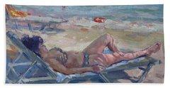 At Dilesi Beach Athens Beach Towel