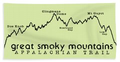 At Elevation Profile Gsm Beach Towel by Heather Applegate
