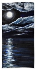 At Moonlight Beach Towel