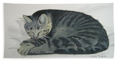 Beach Towel featuring the painting At Rest by Norm Starks