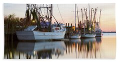 Beach Towel featuring the photograph At Rest - Shem Creek by Donnie Whitaker
