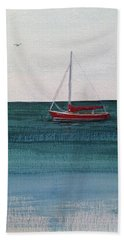 Beach Towel featuring the painting At Rest by Wendy Shoults