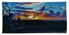 At Sunset Beach Towel