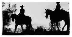 At Sunset On The Ranch Beach Towel