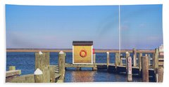 Beach Towel featuring the photograph At The Dock by Colleen Kammerer