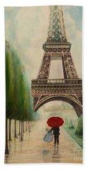 At The Eiffel Tower Beach Towel