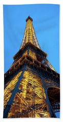At The Foot Of The Eiffel Tower Beach Towel
