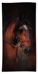 At The Horse Show 1 Beach Towel