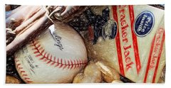 Beach Towel featuring the photograph At The Old Ball Game 2 by John Freidenberg