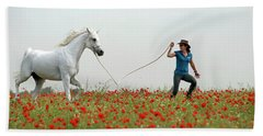 At The Poppies' Field... 2 Beach Towel