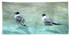Beach Towel featuring the photograph At The Waters Edge by Judy Hall-Folde
