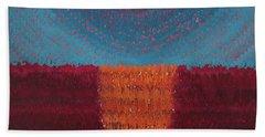 At World's Beginning Original Painting Beach Sheet