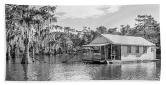 Atchafalaya Basin Fishing Camp Beach Towel