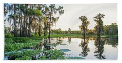 Beach Towel featuring the photograph Atchafalaya Basin Sunrise by Andy Crawford
