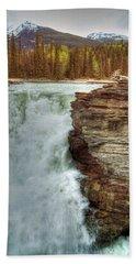 Athabasca Falls 3 Beach Towel
