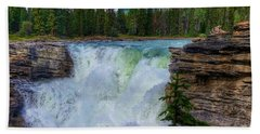 Athabasca Falls, Ab  Beach Sheet by Heather Vopni