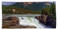 Athabasca Falls Beach Sheet by Heather Vopni