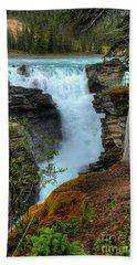 Athabasca Falls Jasper National Park Beach Towel