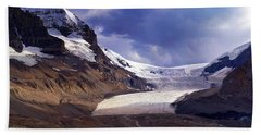 Athabasca Glacier Beach Sheet by Heather Vopni