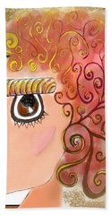 Athena In The Mirror Beach Towel