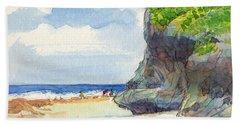 Atiu, Women Gathering Seafood Beach Towel
