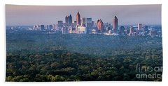 Atlanta Skyline Beach Towel