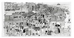 Atlantic City Boardwalk 1889 Beach Towel by Ira Shander