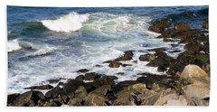 Atlantic Ocean, Rockport, Massachusetts Beach Towel by Patricia E Sundik