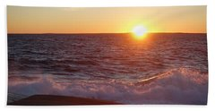 Atlantic Sunset Beach Sheet by Heather Vopni