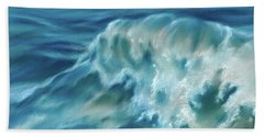 Beach Towel featuring the pastel Atlantic Wave by MM Anderson