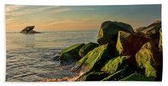 Atlantus Shipwreck Off The Jetty Beach Towel