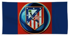 Atletico Madrid Painting Beach Towel