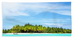 Beach Towel featuring the photograph Atoll by Sharon Jones