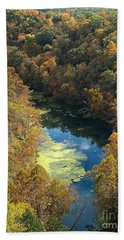 Beach Towel featuring the photograph Atop Ha Ha Tonka National Forest by Sara Raber