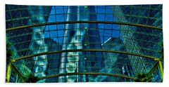 Atrium Gm Building Detroit Beach Towel